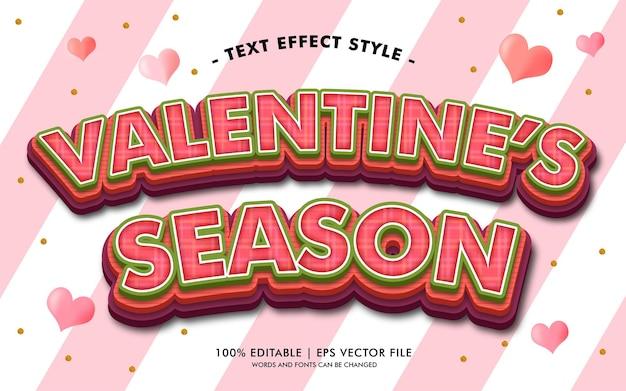 Сезонный текст валентина влияет на стиль