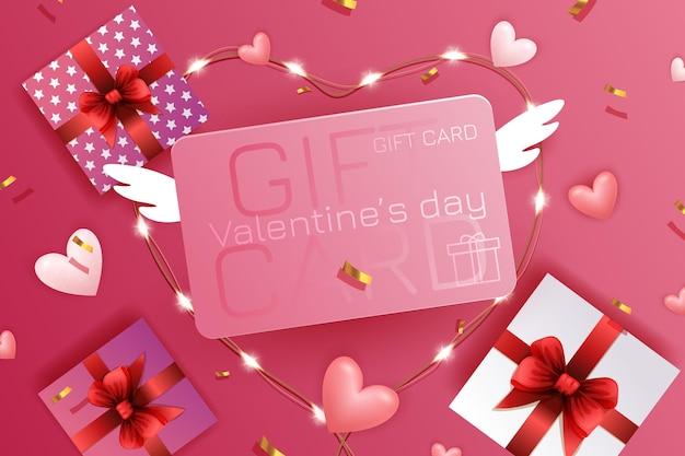 Valentine sale ads illustration Premium Vector