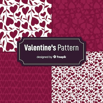 Valentine silhouettes pattern collection