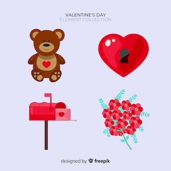 バレンタインシンプルな要素パック