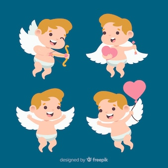Valentine smiling cupid collection