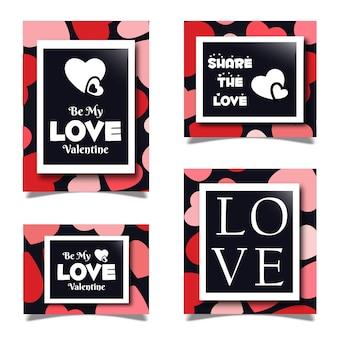 Set di cartoleria valentine
