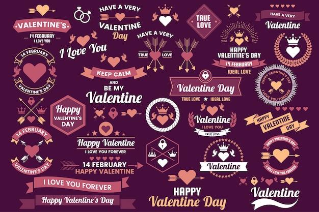 バレンタインテンプレートのバナーの背景