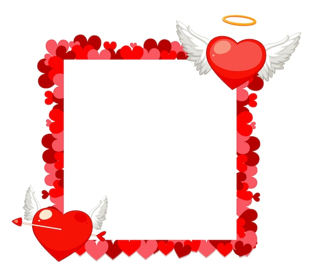 Valentine theme with heart frame design