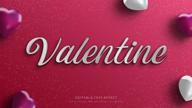 Valentine typography   editable text effect Premium Vector