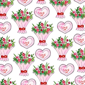 Valentine watercolor background