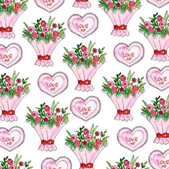 발렌타인 수채화 배경