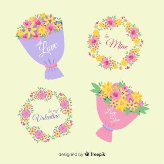 발렌타인 화 환 및 꽃다발 팩