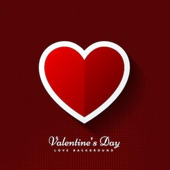 フラットなデザインに心をバレンタインの背景
