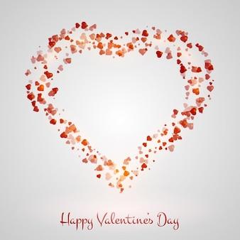 心で作られた心でバレンタインの背景