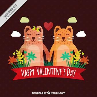 Sfondo san valentino con gli animali belle