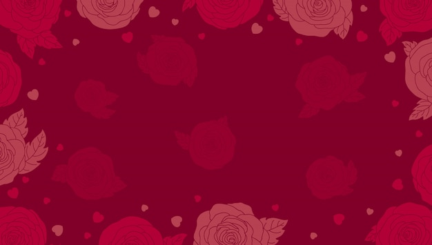 Valentines background with roses