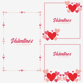 Valentines border collection set