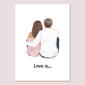 Валентина карты пара в любви бойфренд и подруга