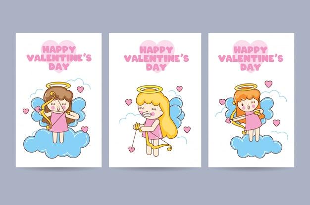 발렌타인 데이 카드 세트