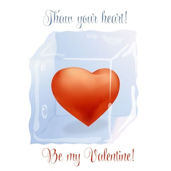 Valentines card with frozen heart