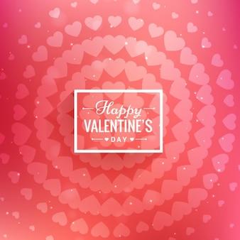 Carta di san valentino con i cerchi di cuore