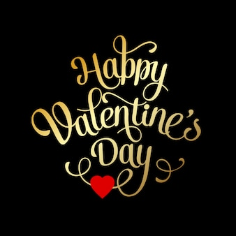 Valentines card with lettering