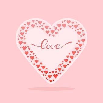 心のバレンタイン構成。ベクトルイラスト。