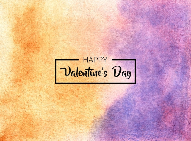 Valentines day abstract watercolor hand painted background texture