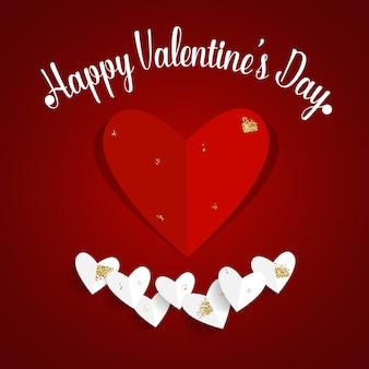 Valentines day background design. vector illustration