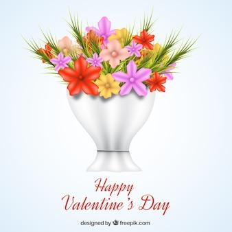 День святого валентина фон с цветами