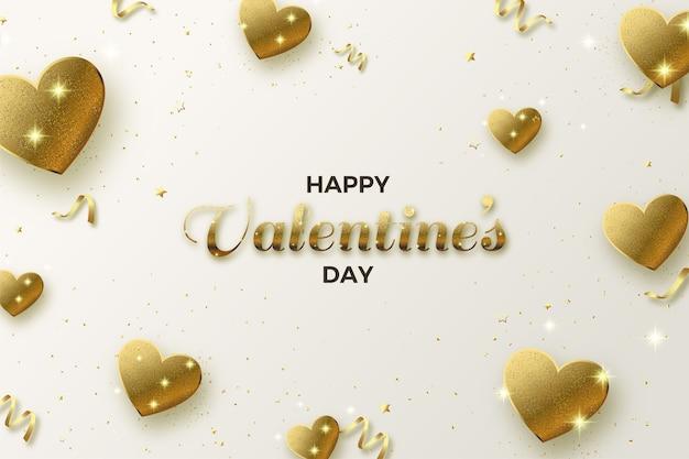 День святого валентина фон с любовью золотой блеск.