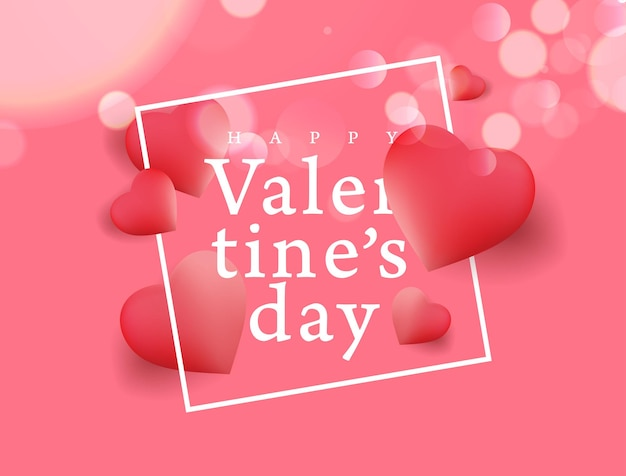 Valentines day background with heart shape