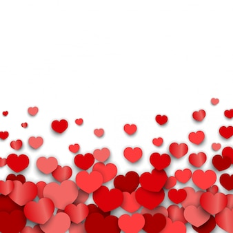 Valentines day background with heart stickers scattered