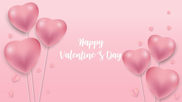 День святого валентина фон с рисунком значка сердца. валентина сердца на розовом фоне, плавающие с поздравлениями с днем святого валентина. векторная иллюстрация