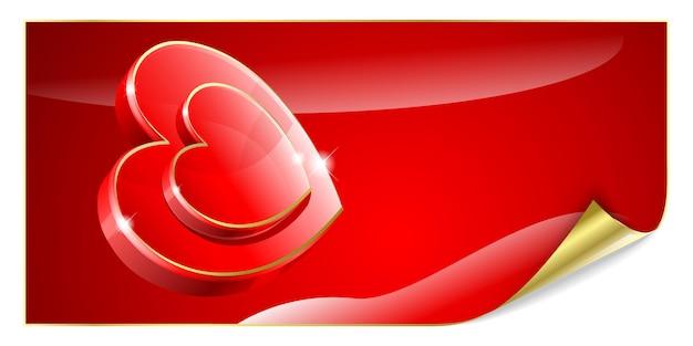День святого валентина фон с красными сердцами