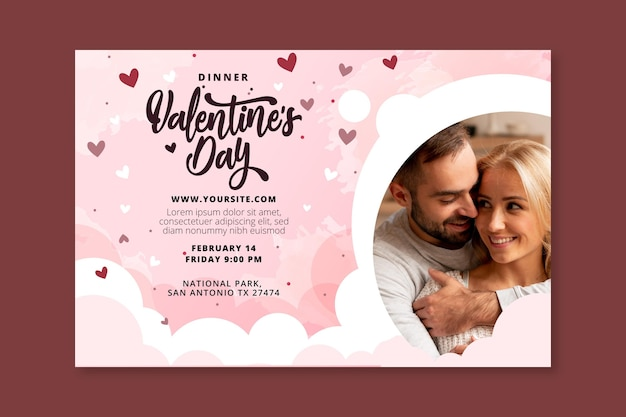 Valentines day banner template