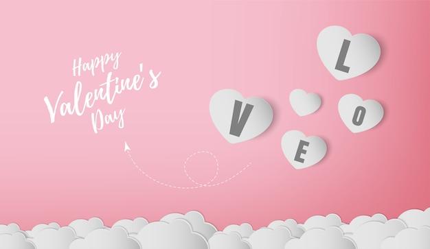 Valentines day banner vector design