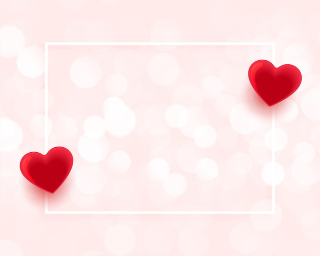 Valentines day beautiful frame with text space