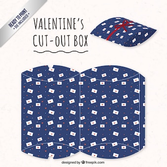 Valentines day box with love letters