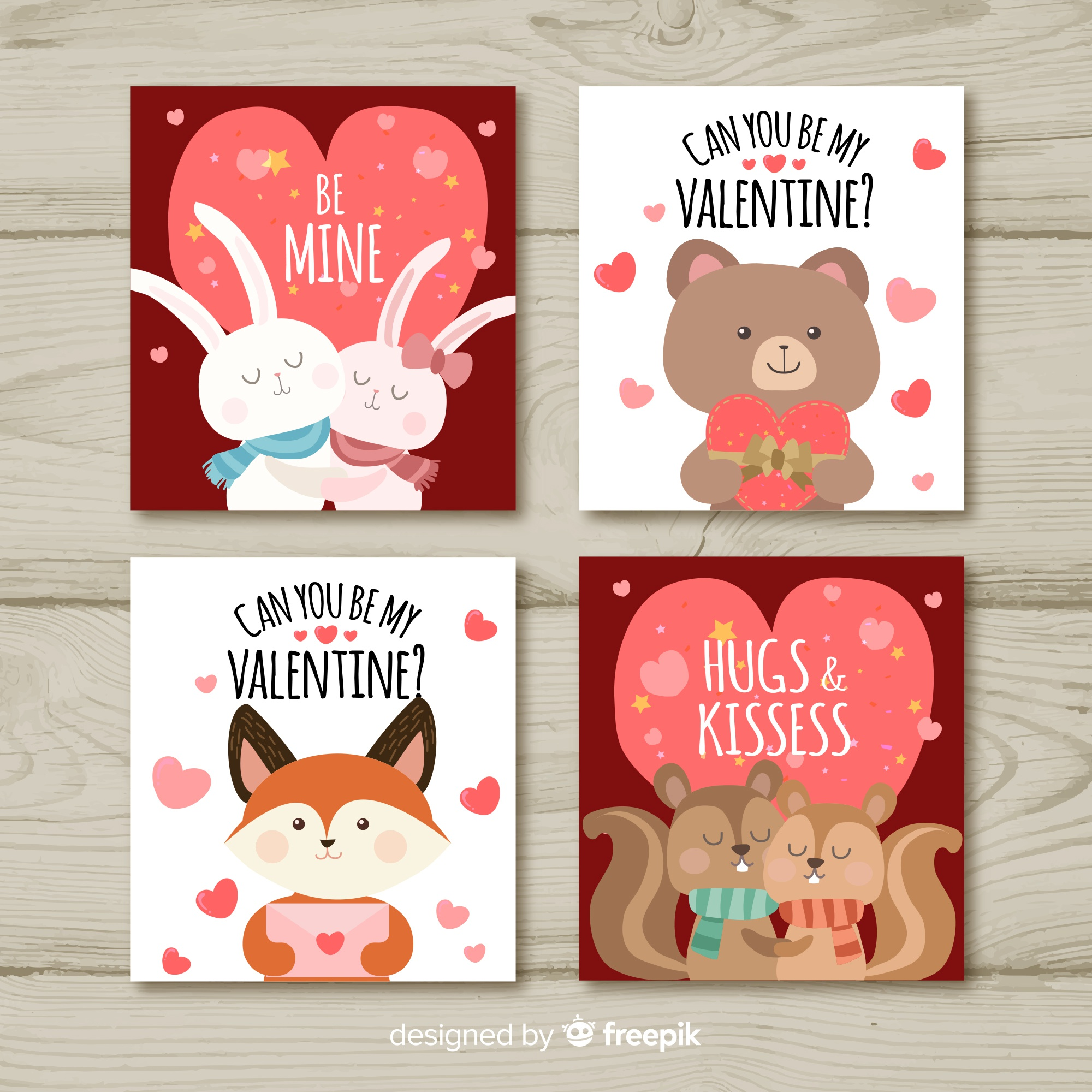 Valentines day card collection