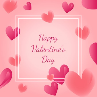 Valentines day card, poster, banner design with heart shapes. vector illustration.