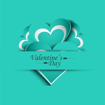 Valentines day card di colore turchese