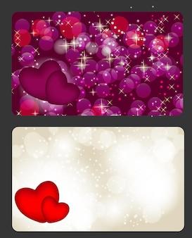 День святого валентина карты, векторные иллюстрации
