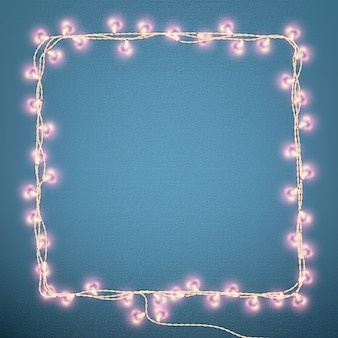 Valentines day card with glowing lights heart shape. and also includes