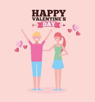 Valentines day celebration with couple lovers