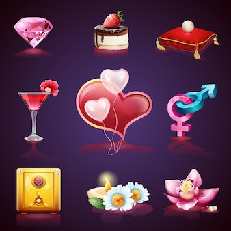 Valentines day. collection of romantic images