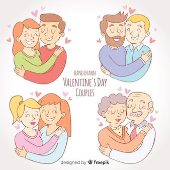 Valentines day couple collection