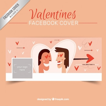 Valentines day couple facebook cover