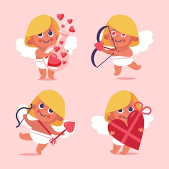 Valentines day cupid character collection