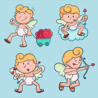 Valentines day cupid character