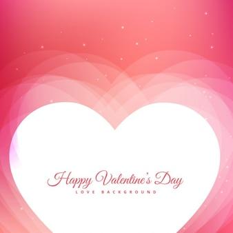분홍색 배경과 하트 발렌타인 디자인