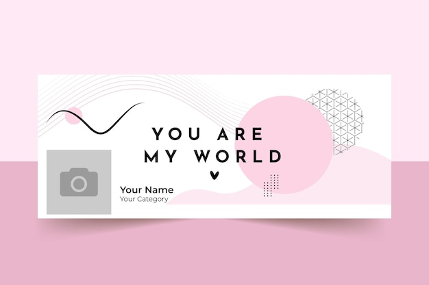 Valentines day facebook cover template