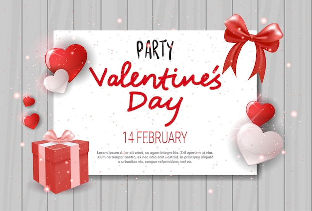 Valentines day flyer invitation card template design love holiday concept