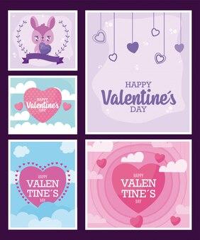 Valentines day frames cards